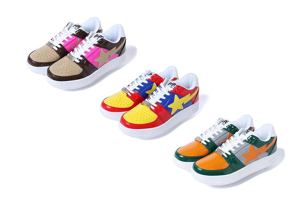 Bape Brings Back The BAPESta Low In Original Colorways