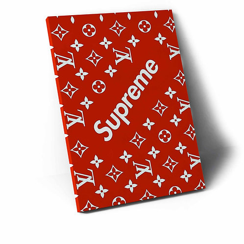 Supreme x LV Pattern Canvas Art, Hypebeast Canvas Print Pop Culture