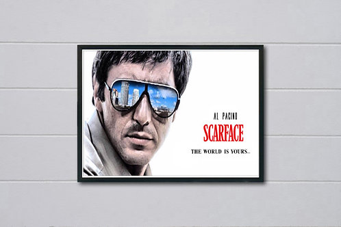 Scarface Al Pacino Style Movie Poster, Tony Montana, Pop Culture Poster Art