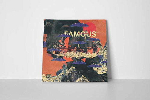 Kanye West Famous Abstract Cover Canvas Art, Hypebeast Prints, Modern Pop