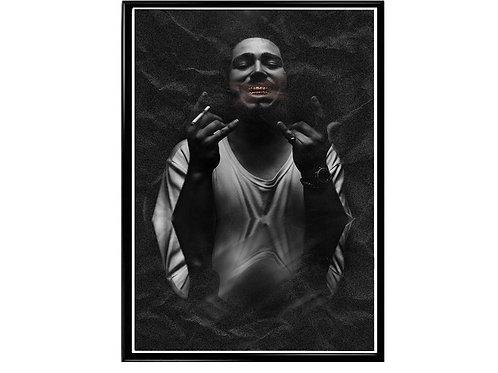 Post Malone Shadow Hip Hop Poster Printable