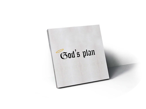 God's Plan Inspired Drawing Canvas Art Modern Pop Art Poster Print Pop Cult