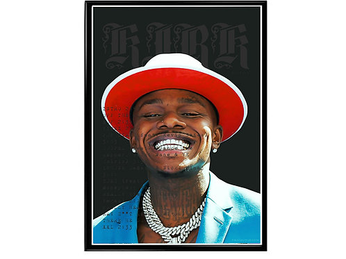 DaBaby Kirk Album Track Listing Poster, Music Poster, Hip Hop Wall Art