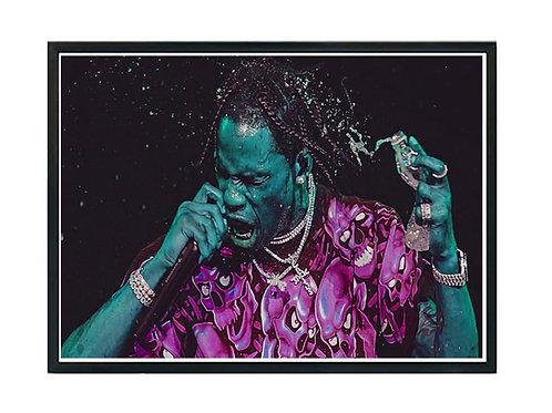 Travis Scott Oil Paint Style Poster, Hypebeast Poster, Music Poster