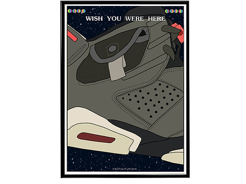 Travis Scott x Air Jordan Sneaker Poster, Hypebeast Poster, Kicks Pos