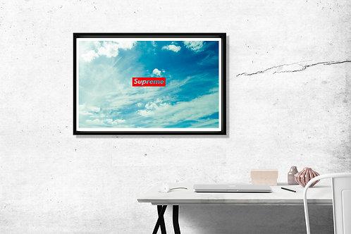 Supreme Sky Custom Hypebeast Poster Art 12x18 Poster Art Livingroom Wall