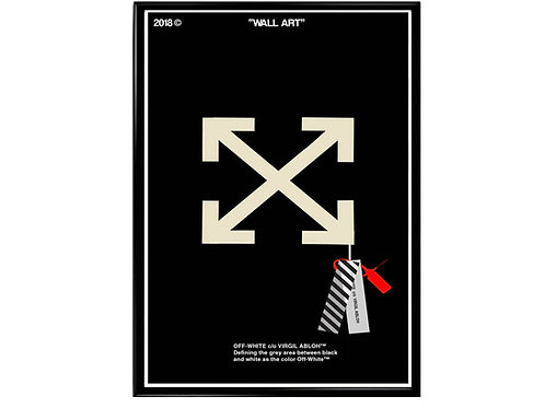 Off White Tag Poster, Streetwear Poster, Modern Pop Art Poster