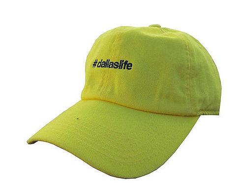 Custom Dallas Life Cotton Unisex Dad Hat Yellow