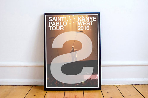 Kanye West TLOP Tour S Poster, Hypebeast Posters Prints