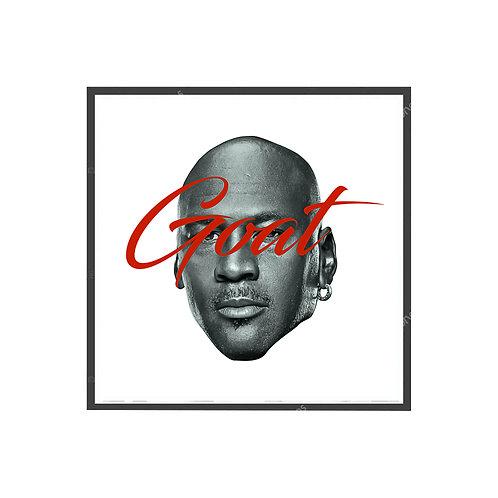 Michael Jordan Goat Pop Art Poster, Hypebeast Poster, Music Wall Art