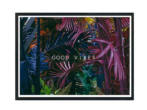 Good Vibes Beach Poster, Hypebeast Poster, Modern Pop Art Hipster Poster