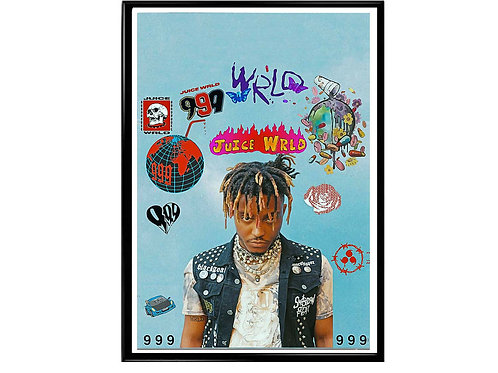 RIP Juice Wrld Poster, Hypebeast Poster, Rap Poster