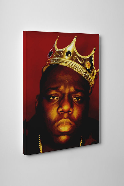 Notorious Big Crown Canvas Art Pop Culture Canvas Art Hypebeast Art