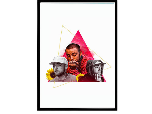 Mac Miller Collage Poster, Music Poster, Hip Hop Wall Art