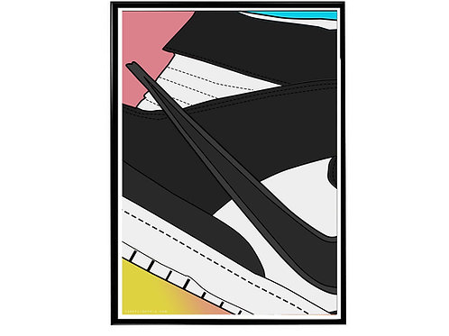 Ambush x Nike SB Dunk Black Close Sneaker Poster, Hypebeast Poster