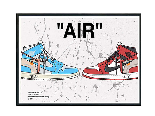 Off White x Air Jordan 1 Hypebeast Sneaker Poster. Printable