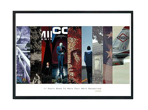 Eminem Album History Poster, Hypebeast Poster, Kicks Pos