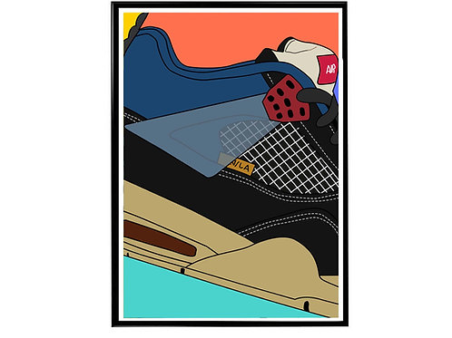 Union LA X Air Jordan Bk Close Sneaker Poster, Hypebeast Poster Sneaker