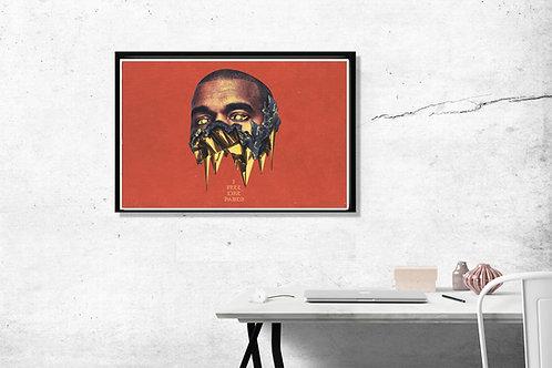 Kanye West Art Poster, Hypebeast Posters Prints, Yeezy Poster Print TLOP Art