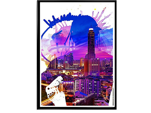 Travis Scott Abstract Poster, Hypebeast Poster, Kicks Pos