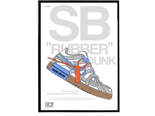 Off White x Nike Rubber Dunk WT Sneaker Poster, Hypebeast Poster