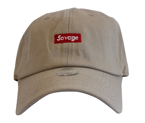 0dde376b752dc ... unstructured hat black 51f02 e84ea wholesale supreme savage box logo  khaki twill cotton 21 savage low profile dad hat migos lil