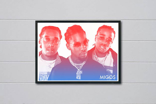 Migos Inspired Poster, Music Posters Poster Art, Trendy Art Wall Art