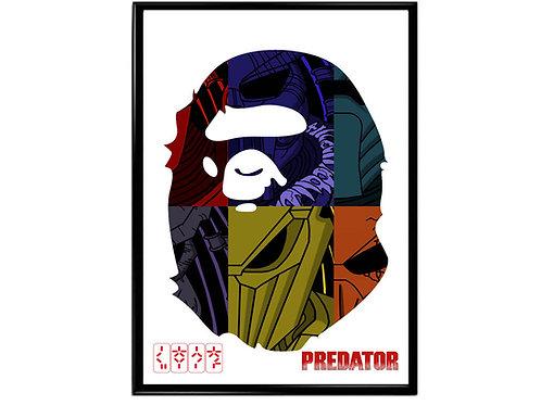 Bape x Predator Poster, Hypebeast Poster, Trendy Street Art Poster