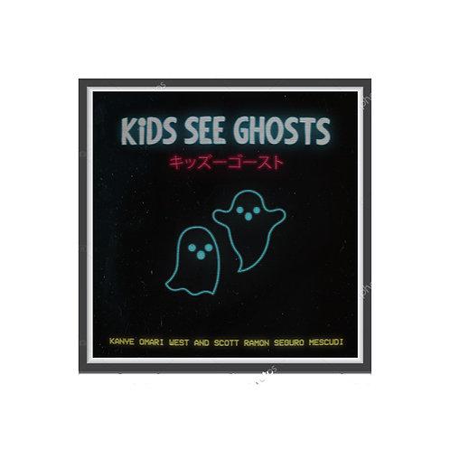 Kids See Ghost Alt 2 Album Poster, Hypebeast Posters Prints, Yeezy Kid Cudi