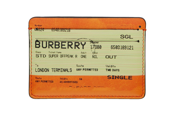 Burberry Train Ticket UK Wallet - New Release