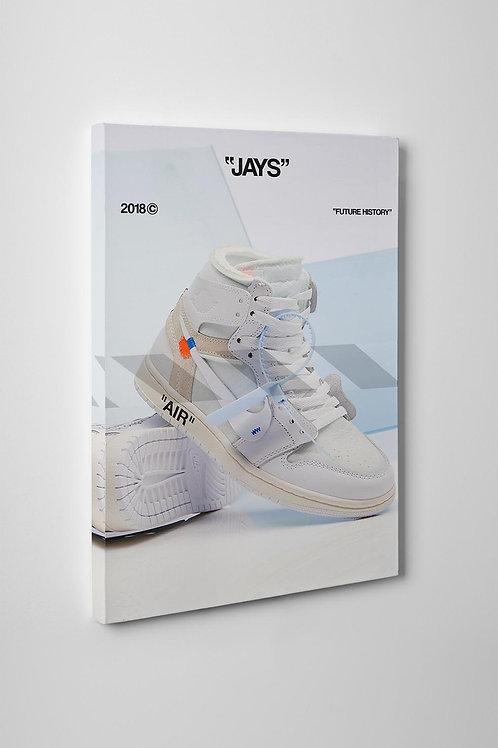 Off White x Jordan Sneaker White Canvas Art Pop Culture Hypebeast Art