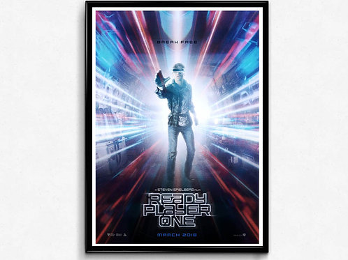 Ready Player One Style 2 Movie Poster, Video Game Poster, Pop Culture