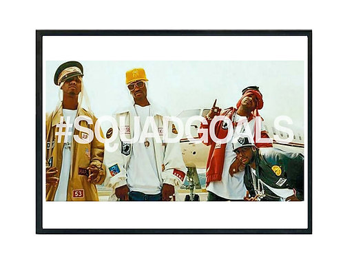 Dipset Squad Goals Poster, Hypebeast Poster, Rap Posters