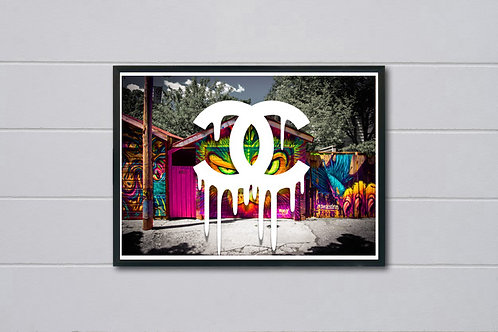 COCO Chanel Inspired Garage Poster, Modern Wall Art, Hypebeast Sneaker Poster