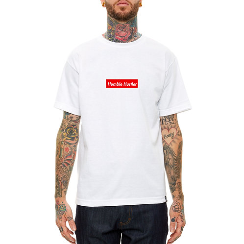 Humble Hustler Box Logo T Shirt Streetwear Hypebeast T Shirt Slogan Quote Tees
