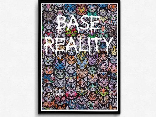 Graffiti Cats Poster, Base Reality Street Art Print Graffiti Street Art Poster