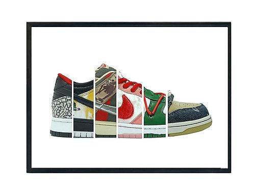 SB Dunk Sneaker Collage Poster, Hypebeast Poster, Kicks Poster