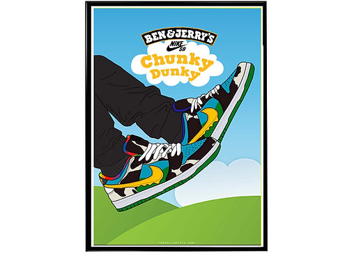 Chunky Dunky SB Dunk II Sneaker Wall Poster, Hypebeast Poster, Kicks