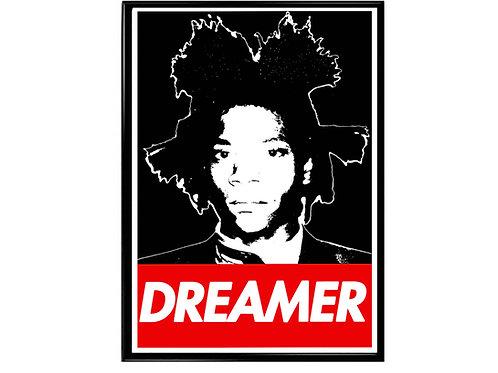 Basquiat Dreamer Pop Art Poster, Hypebeast Poster, Graffiti Poster