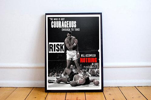 Mohamed Ali Custom Sports Art Print 12x18 Poster Wall Art