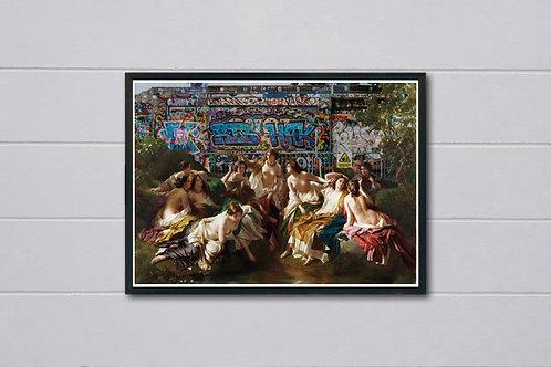 Clashing Realities 1 Poster, Classic Art Poster, Pop Culture, Modern Pop Art
