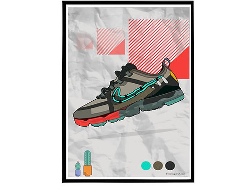 Cactus Max Sneaker Poster, Hypebeast Poster, Nike Vapormax Drawing