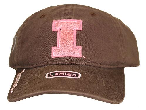 University of Iowa Hawkeyes Brown Strap Back Hat Adjustable Dad Cap