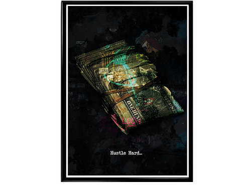 Hustle Hard Graffiti Poster Art Inspirational Print Pop Culture Motivational S