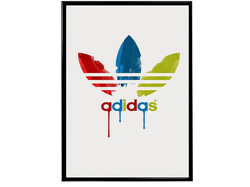 Adidas Paint Poster, Streetwear Hypebeast Poster, Modern Pop Art Sneaker Poster