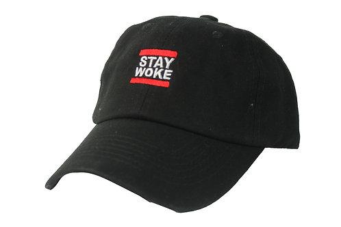 Stay Woke Run DMC Font Style Twill Cotton Popular Low Profile Dad Cap Hat
