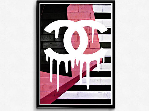 COCO Chanel Inspired Piano Poster, Modern Wall Art, Hypebeast Sneaker Poster
