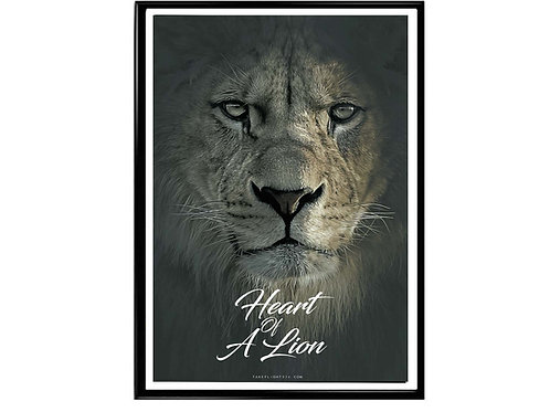Heart Of A Lion Motivational Poster, Hypebeast Poster