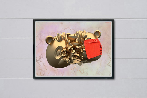 Kanye West Gold Yeezus Poster, Hypebeast Poster Print, Yeezy Ye Album Poster