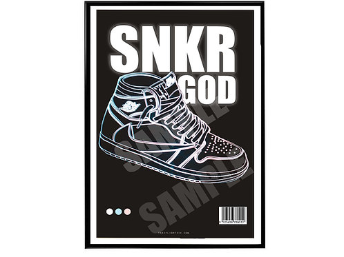 Travis Scott Air Jordan 1  Sneaker God Poster